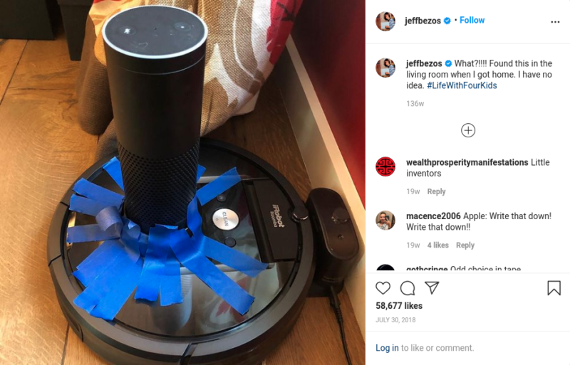 echo taped to roomba