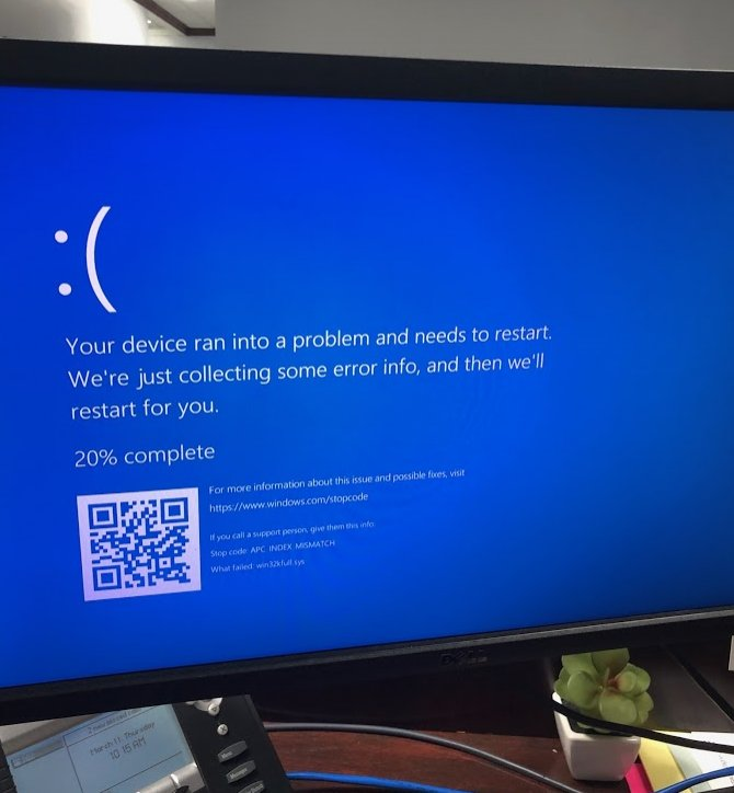 This is the BSOD victim of this week's Windows Update Woes seen after any attempt to print, from any application.