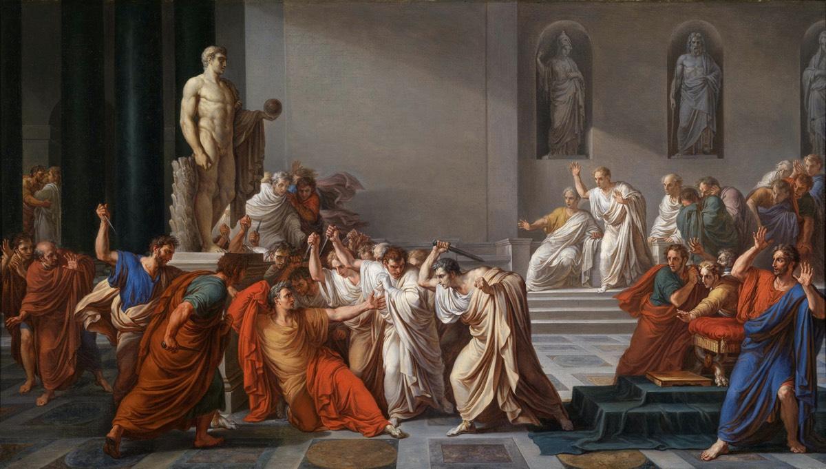 <em> La mort de césar</em> by Vincenzo Camuccini, circa 1804