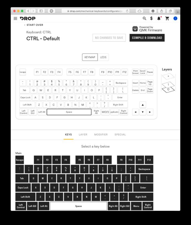 Drop CTRL's online configuration tool