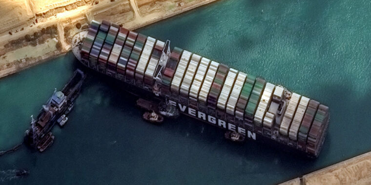 What will it take to acquire a giant cargo ship unstuck in the Suez Canal? thumbnail