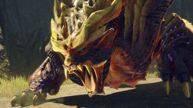 <em>Monster Hunter Rise</em>has you fighting lots of beasts like Magnamalo here.
