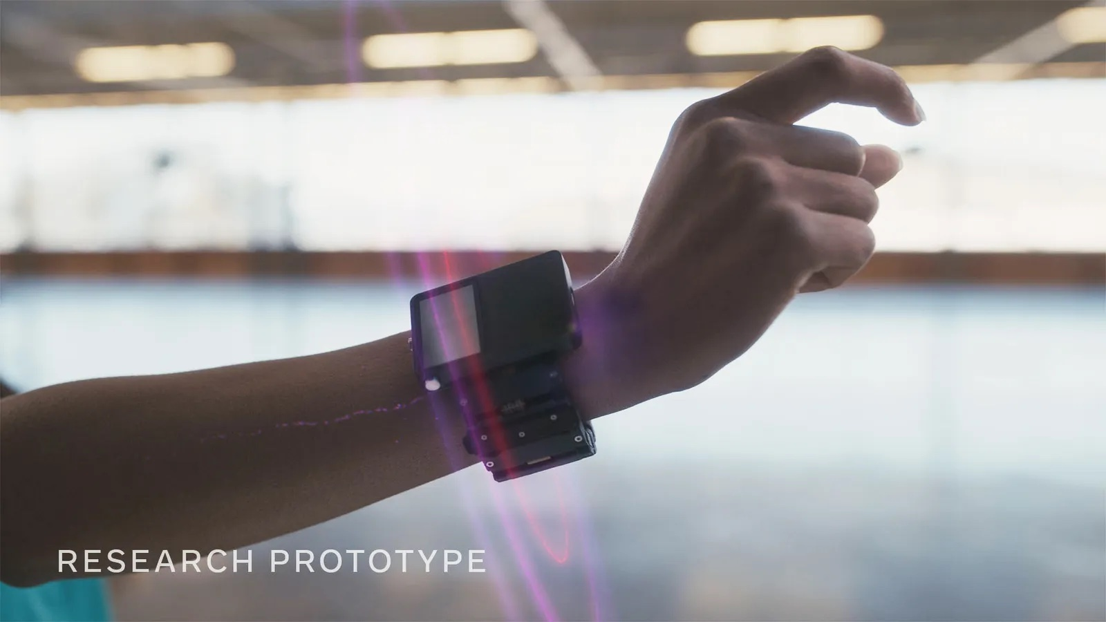 A closer look at the prototype wearable.