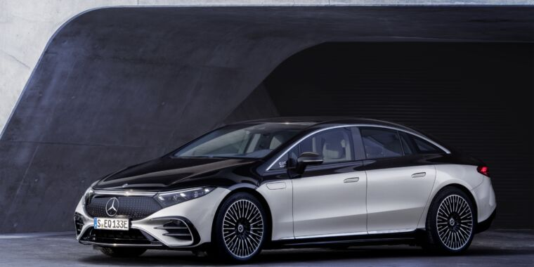 Mercedes goes all out with its new electric luxury sedan, the EQS  image