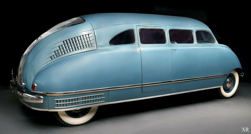 The Scout Scarab is probably the ancestor of today's minivans.