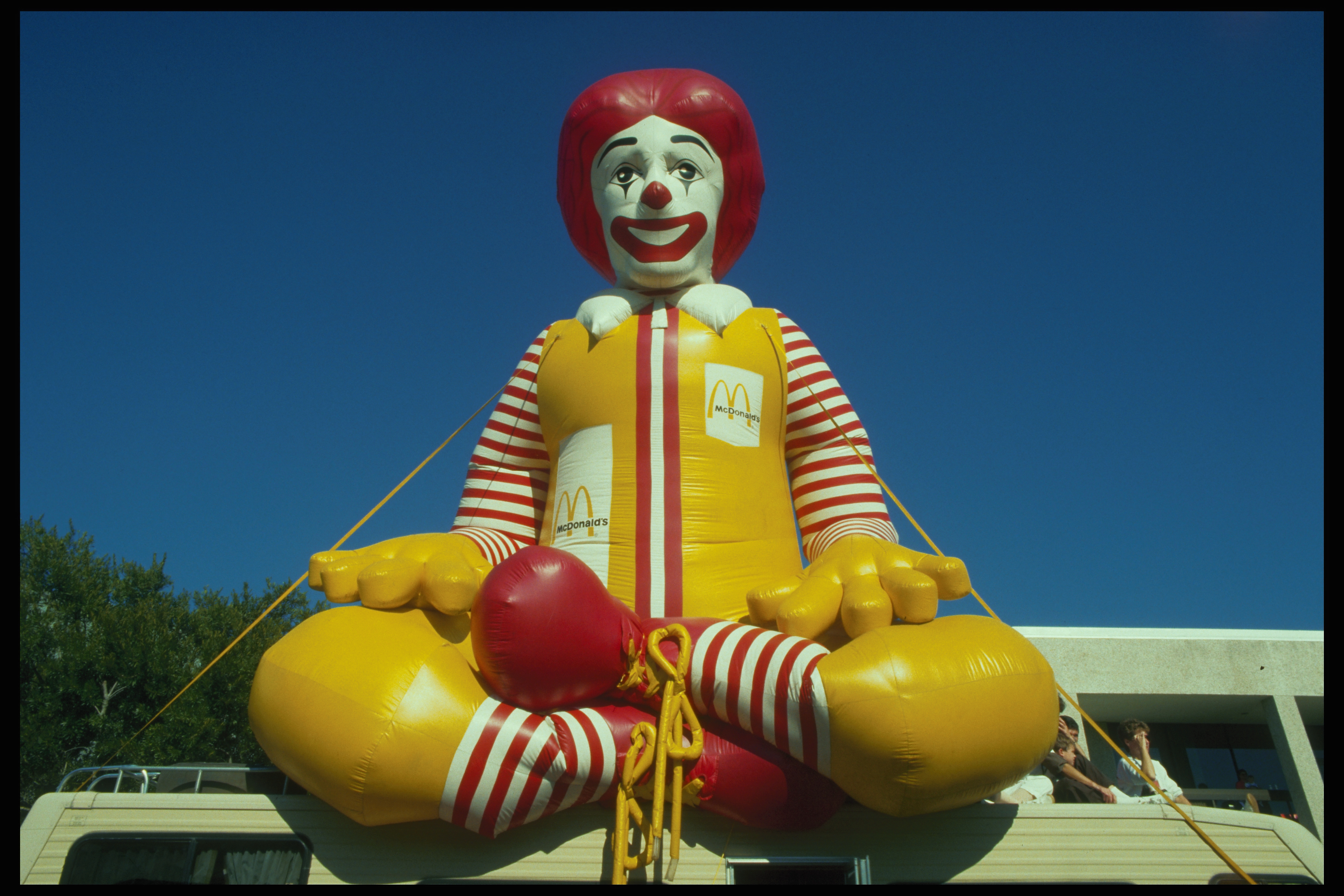 A large inflated Ronald McDonald at the Rice Festival, Louisiana.