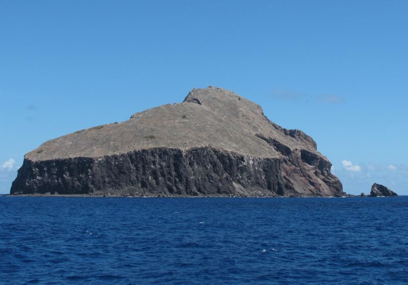 The stark surface of Redonda Island is turning green again.