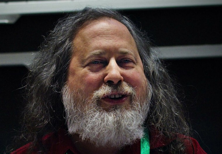 RMS at LibrePlanet 2019, approximately six months before his resignation from the FSF's board of directors.