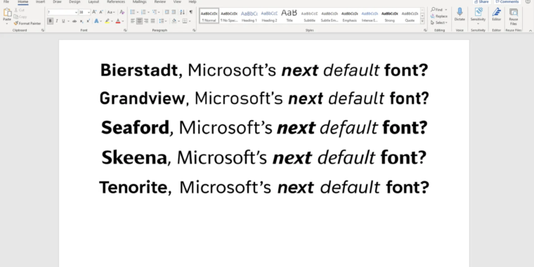 Office default Calibri will join Clippy, Internet Explorer in Windows retirement