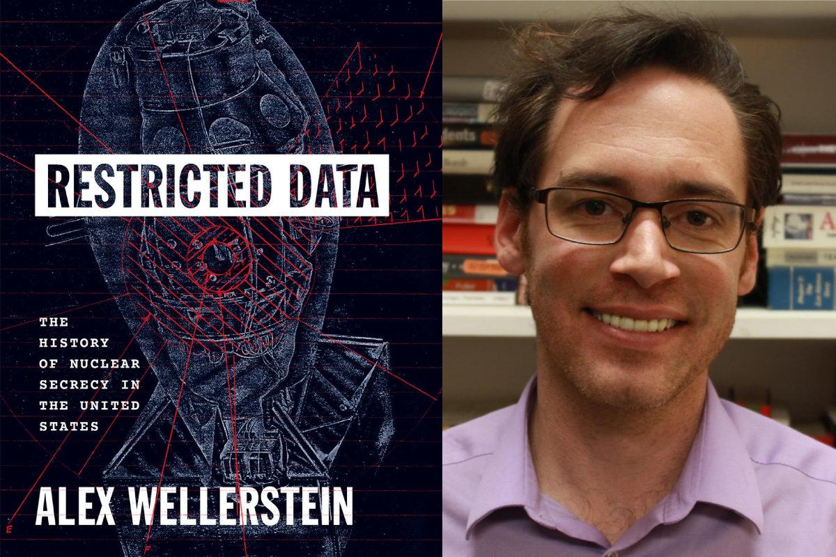 (left) Cover art for <em>Restricted Data.</em> (right) Historian Alex Wellerstein.