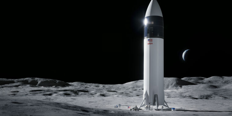 NASA selects SpaceX as its sole provider for a lunar lander thumbnail