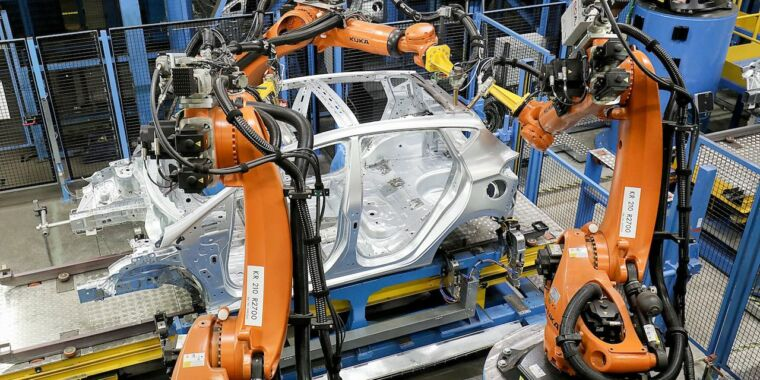 Ford's ever-smarter robots are speeding up the assembly line