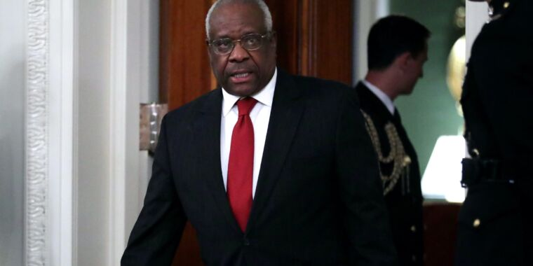 """Clarence Thomas blasts Section 230, wants """"common-carrier"""" rules on Twitter thumbnail"""