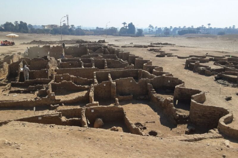Egyptian archaeologists have discovered a 3400-year-old city just outside Luxor, dating back to the reign of Amenhotop III, grandfather to King Tut.