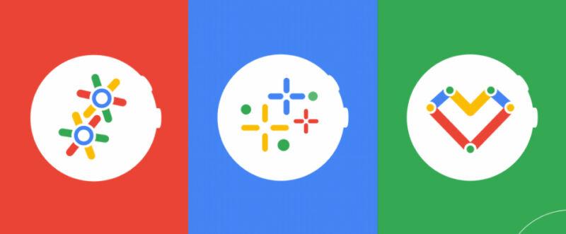 Logotipos para Wear OS de Google.