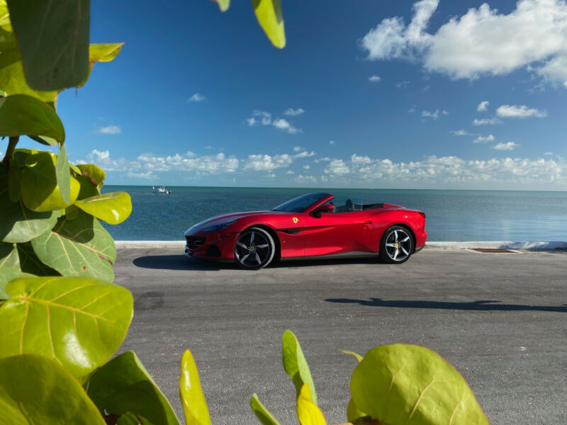 You might associate the Florida Keys with Crimson Jihad, but this red is actually called Rosso Portofino.