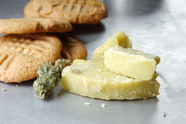 """""""Cookies prepared with marijuana butter,"""" also another available Getty Images result."""