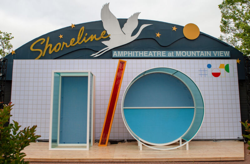 Sadly the Shoreline Amphitheatre will be empty this year. Google I/O is online-only.