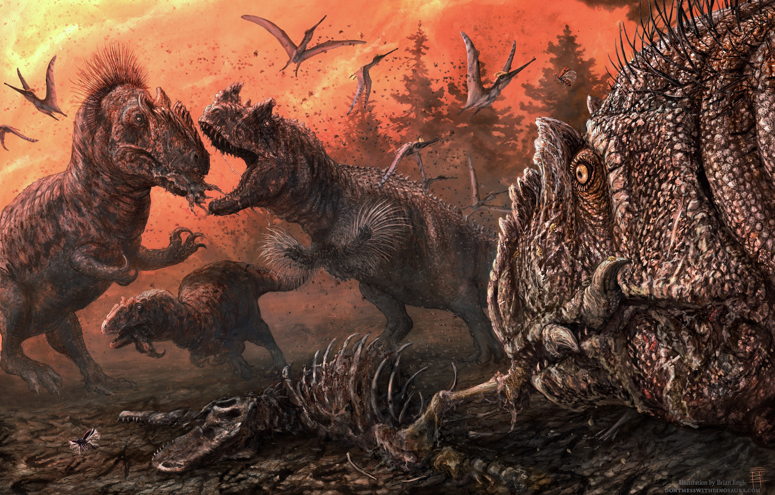 With food scarce, carnivorous dinosaurs resorted to cannibalism.