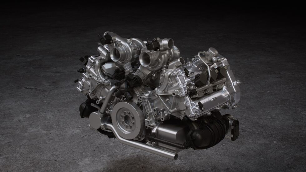 The M630is McLaren's first V6 engine.