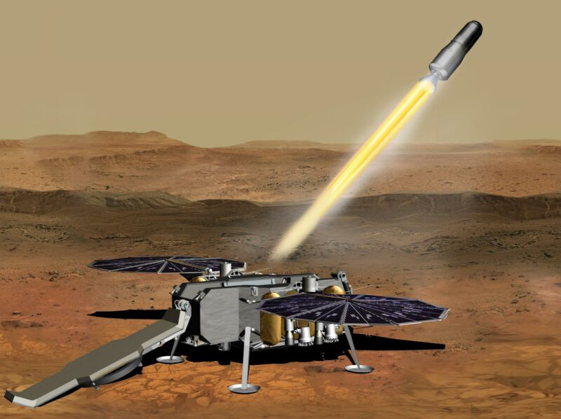 NASA's proposed Mars Sample Return mission received funding in the budget request to support a 2026 launch.