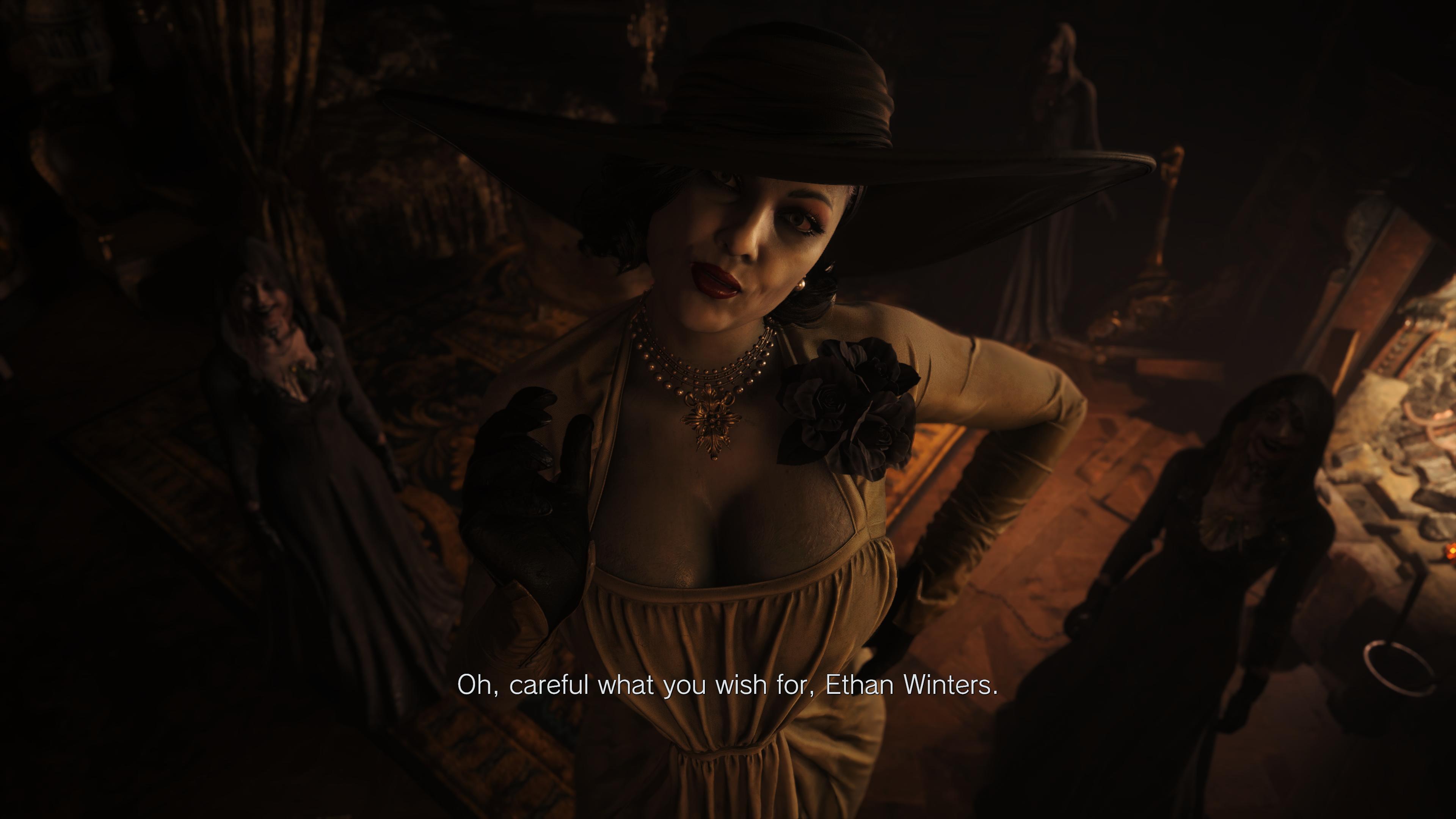 The new <em>Resident Evil Village</em>, complete with tall vampire women.
