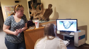 Undergraduate researchers helped digitize bite mark data.