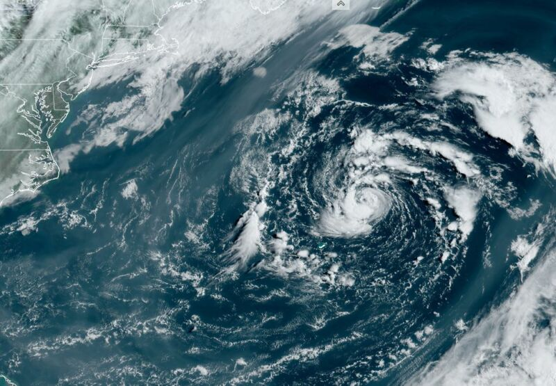 Subtropical Ana forms in the Atlantic on Saturday morning.