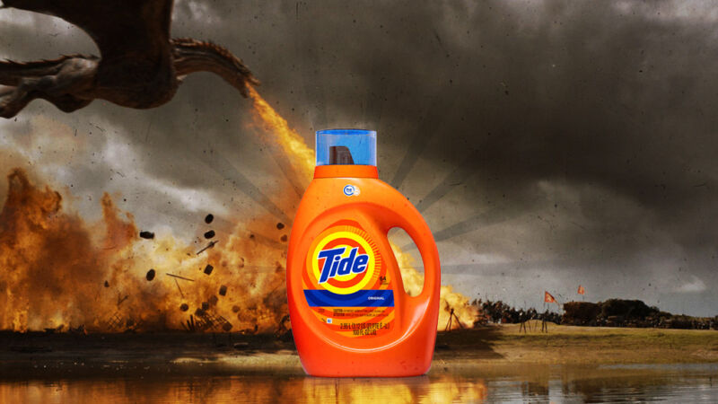 Get the toughest soot stains out of your jerkin with Tide!
