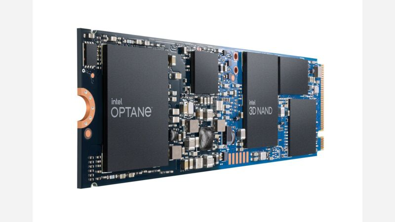 The new Intel H20 looks like a standard NVMe SSD—but it packs both slow QLC NAND and ultra-fast Optane into separate chips on the same M.2 drive.