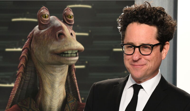 """No, the Collider interview doesn't mention Jar Jar, but who doesn't love an opportunity to put JJ next to Star Wars' other big """"JJ""""?"""