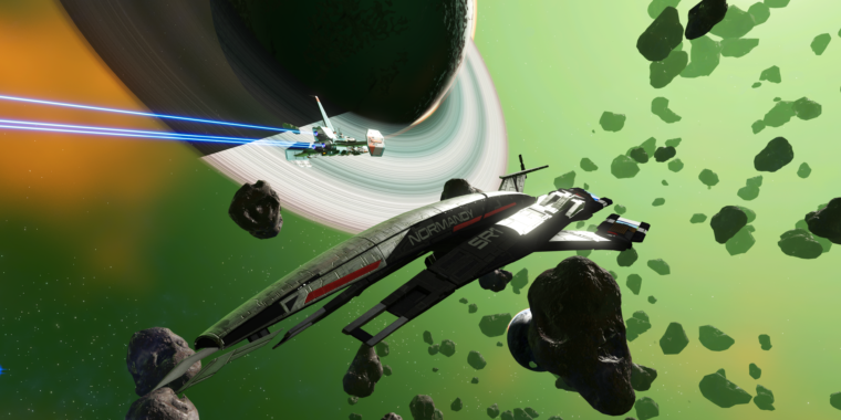 No Man's Sky confirms Mass Effect crossover, adds iconic Normandy SR-1 to fleet