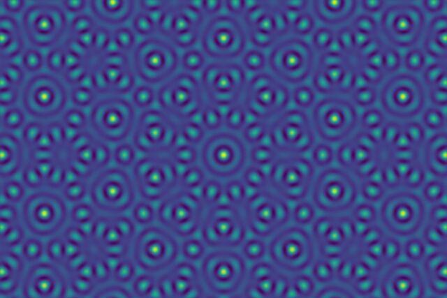A quasiperiodic two-dimensional pattern.
