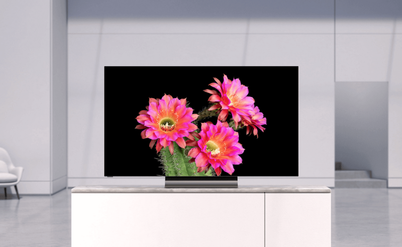 Promotional image for widescreen television set.