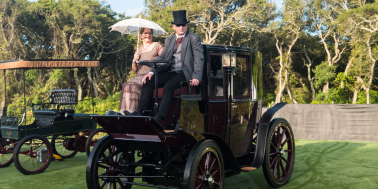 Ancient electric cars meet modern EVs at Amelia Island show