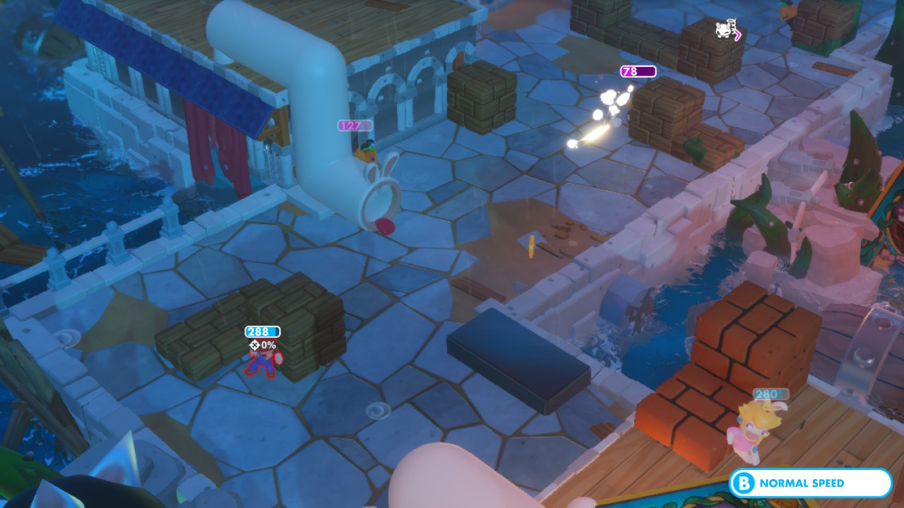 The charming and accessible tactical RPG <em>Mario + Rabbids Kingdom Battle</em>.