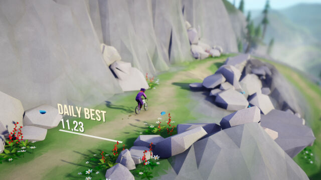 <em>Lonely Mountains: Downhill</em>is an arcade-y but oddly serene mountain biking game.