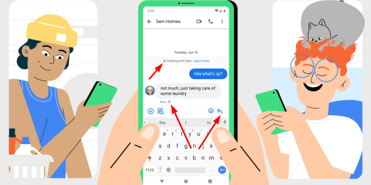 Google enables end-to-end encryption for Android's default SMS/RCS app