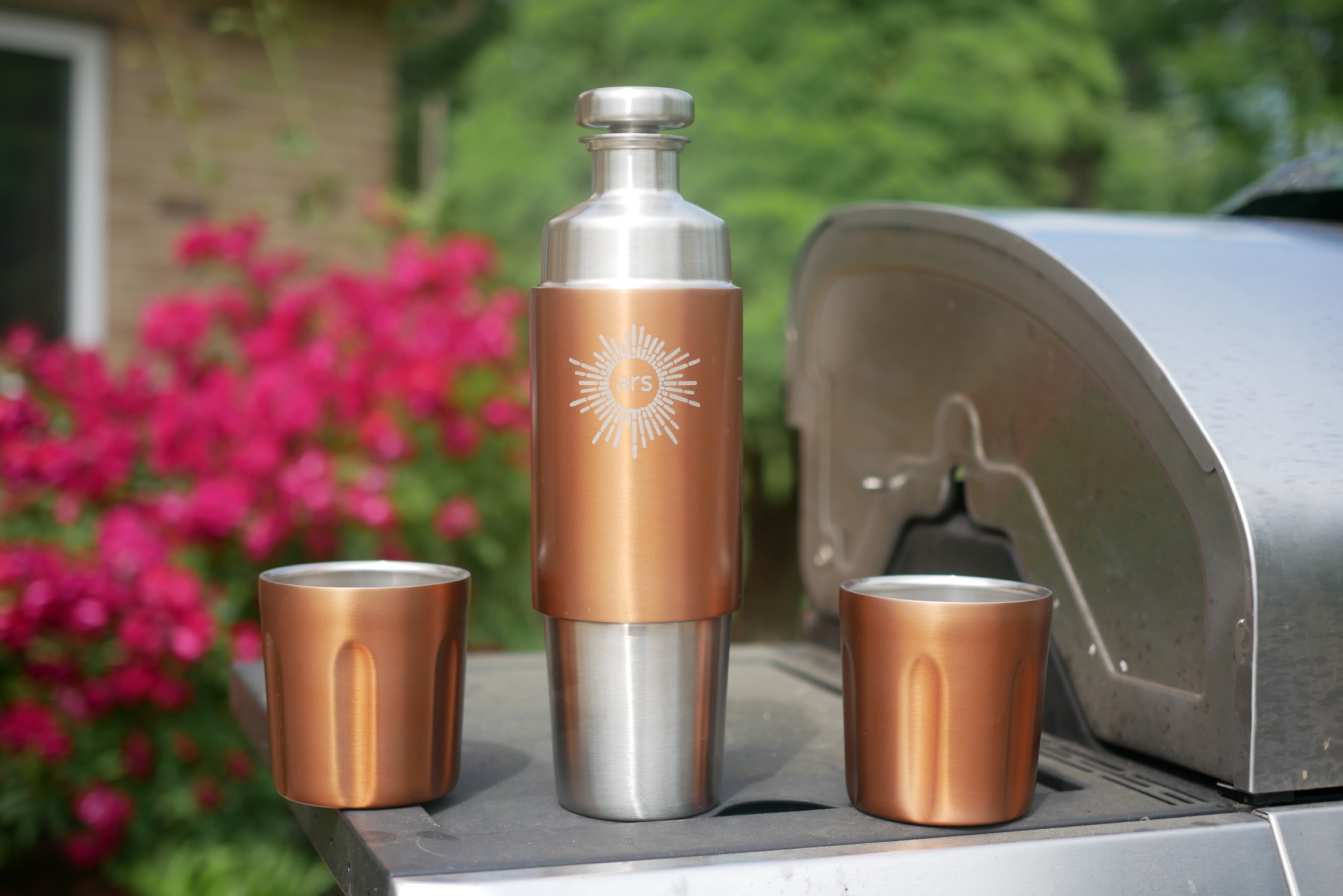 High Camp's Flasks look sharp, yet rugged, while keeping you hydrating or libating.