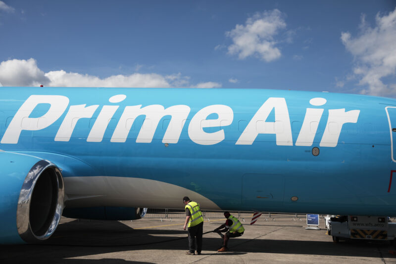 Amazon leases its fleet of planes from a handful of cargo airlines, some of which have signed contracts that give the retailer the right to buy stock in the company.