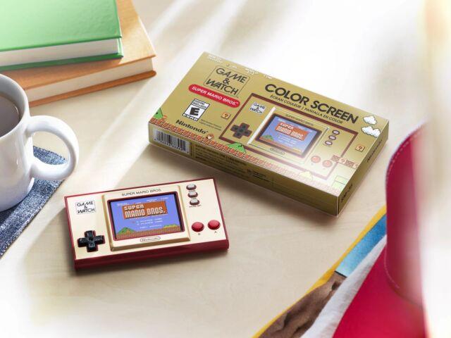 Nintendo's Game &amp; Watch: <em>Super Mario Bros.</em> includes playable copies of the original <em>Super Mario Bros.</em> and <em>Super Mario Bros: The Lost Levels</em>.