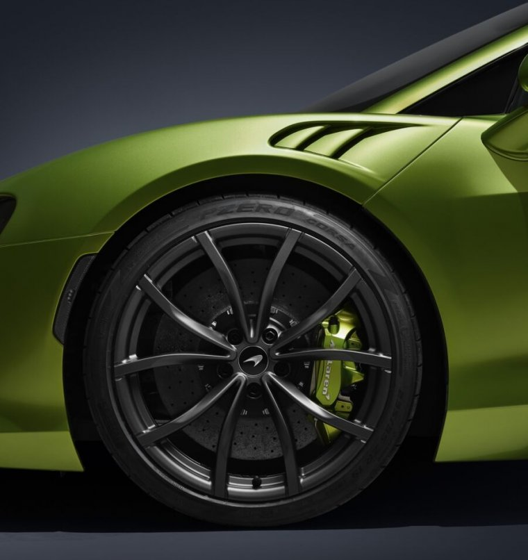 The new McLaren Artura plug-in hybrid supercar will be the first production car to use tires with built-in monitoring sensors.