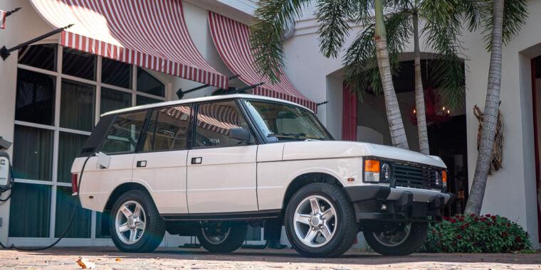 This Range Rover Classic restomod runs on Tesla power