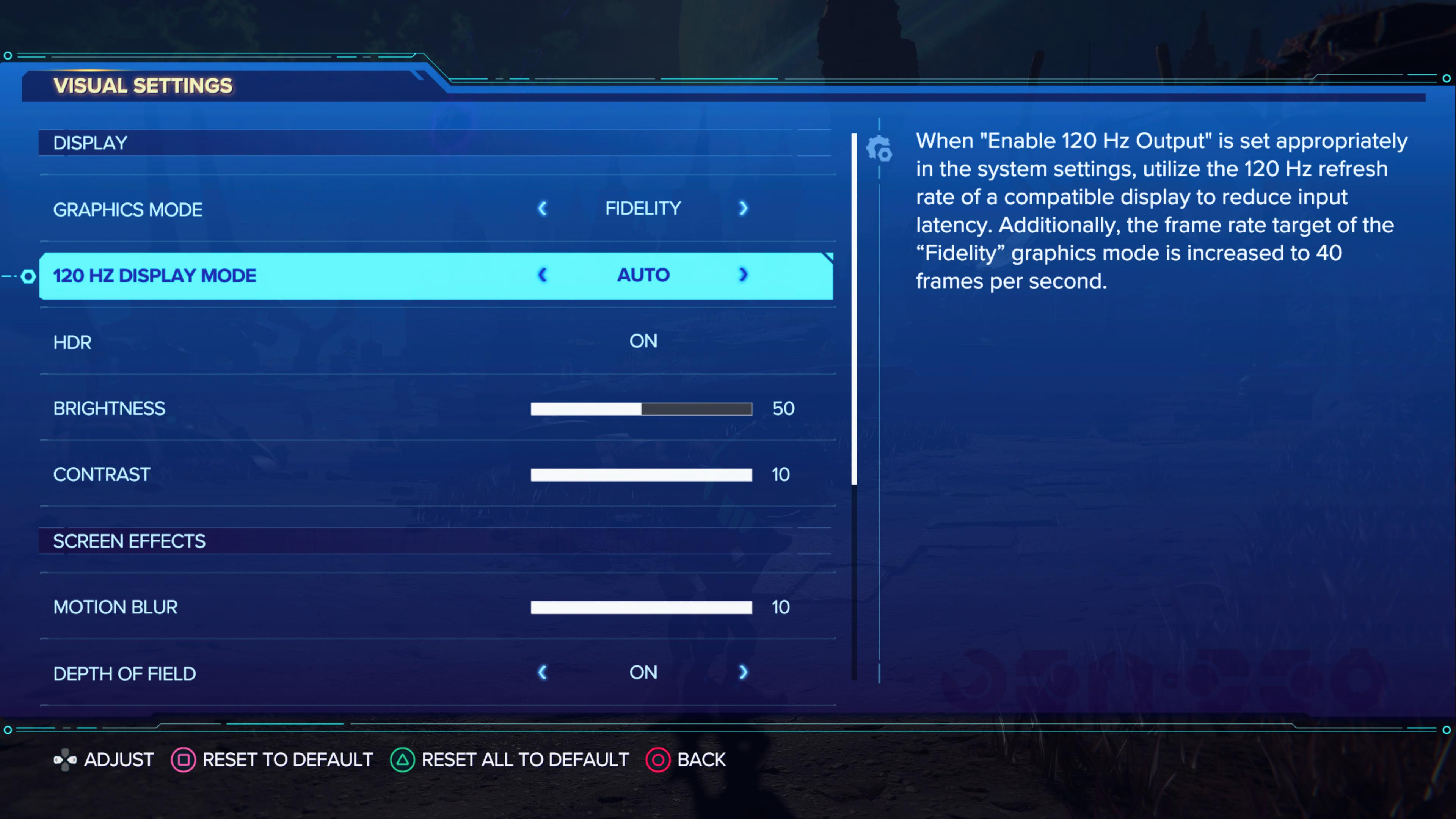 Today's update adds this menu option. Look closely, and it explains that you're not actually getting 120 fps refreshes anywhere in the game. (Sadly, this doesn't clarify that you'll need to go into your root menus and fiddle with chroma-subsampling options.)