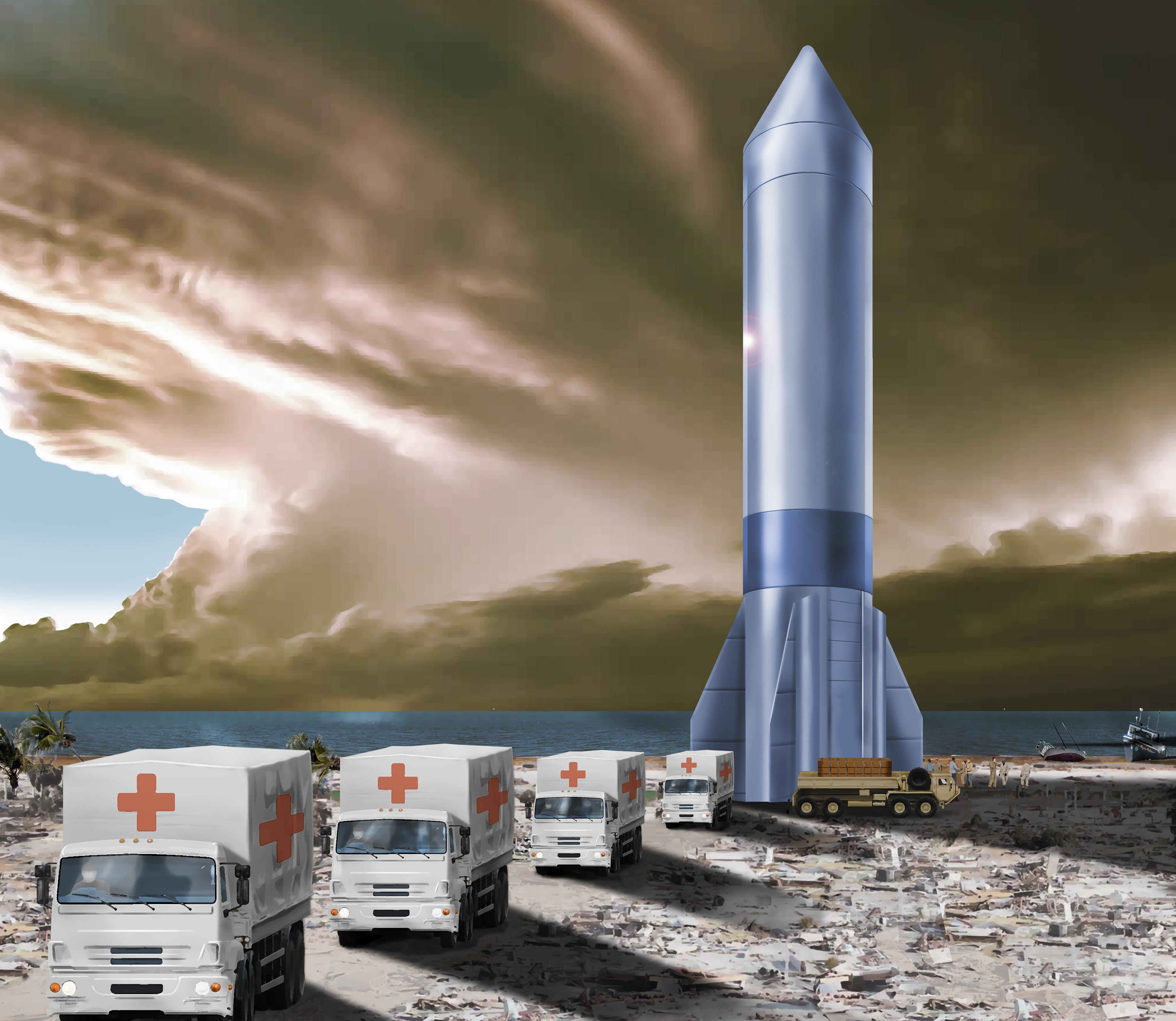 Concept design for Air Force Rocket Cargo program.