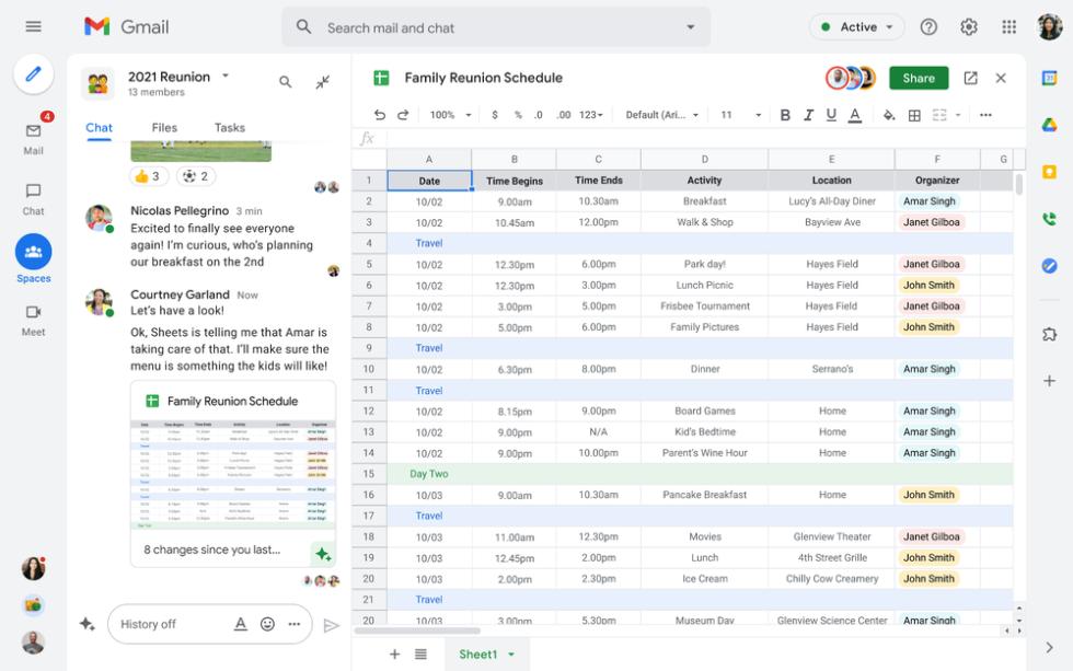 تقدم مشاركة مدونة Google واجهة Gmail جديدة بحدود رمادية حول منطقة محتوى بيضاء.