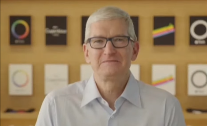 Apple CEO Tim Cook is being interviewed externally by Brut.