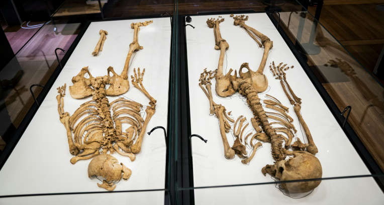 Two Viking burials, separated by an ocean, contain close kin