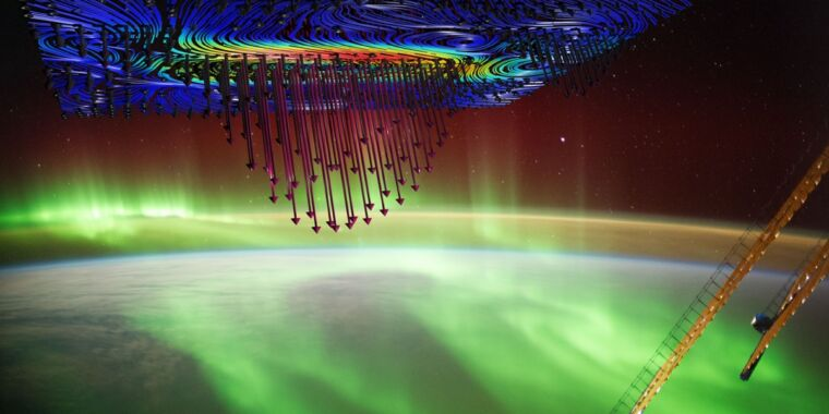 <p>Electrons in ionosphere catch a plasma wave to Create brightest auroras thumbnail