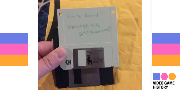 """""""Deleted"""" Nintendo floppy recovered 26 years later, full of Earthbound secrets"""